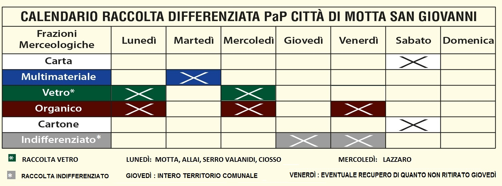 Nuovo Calendario.Nuovo Calendario Raccolta Differenziata